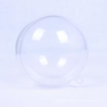 Boule de boule de noel transparente en plastique de 100 mm