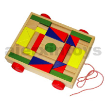 Wooden Blocks on Wheels (36PCS) (80025)