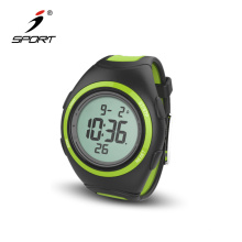 Colorful countdown timer sports watch low cost wristband stopwatch