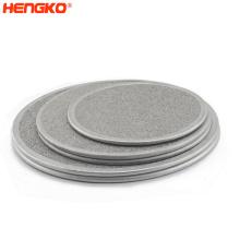 Powder custom sintering metal stainless steel 0.5 2 micro porous wine plate air line filter for liquid water filtration