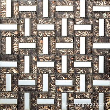 Tissu en aluminium Design Mix Glass Mosaic