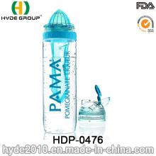 Newly Wholesale Tritan Fruit Infusion Water Bottle, BPA Free Plastic Fruit Infuser Bottle (HDP-0476)
