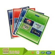 Cheap Heavy Duty Biodegradable Supermarket Shopping Patch Hole Handle Custom Logo Printed Plastic Bag