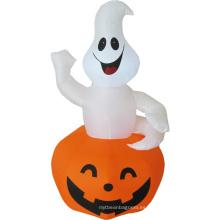 Calabaza fantasma blanca inflable feliz Halloween
