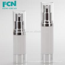 50ml emballage cosmétique de luxe transparent bouteille de pompe à air sans air PETG