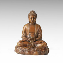 Buddha Bronze Sculpture Shakyamuni/Gautama Craft Decor Brass Statue Tpfx-B97