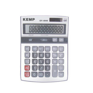 12 digits grey small Calculator