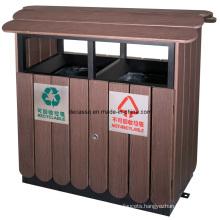 Eco Friendly WPC Classified Outdoor Waste Bin (DL36)