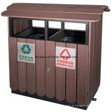 Escaninho waste ao ar livre classificado amigável de Eco WPC (DL36)