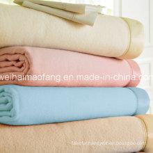 Woven Woolen 100%Wool Hotel Blanket