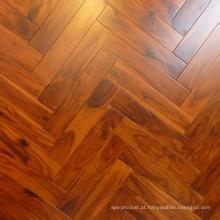 Sólido Real Herrybone Acacia Piso De Madeira Hotel & Home Flooring