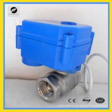 Válvula de bola automática eléctrica de 2 vías para riego de jardines 12v