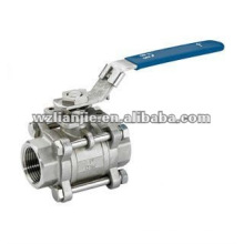 1000WOG 3PC Threaded Full Bore Ball Valve with ISO Mounting Pad