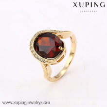 12640 Xuping nuevo producto gran piedra 18k anillo plateado