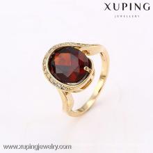 12640 Xuping nouveau produit grande pierre 18k plaqué anneau