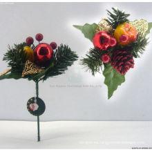 Plástico decorativo hechos a mano adornos de Navidad recoge