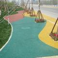 Carretera de resina colorida de la comunidad