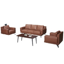 Dious Manufacturer Commercial Furniture Modern New Design PU Leather Office Sofas