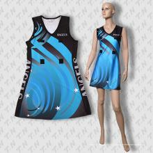 2015 mais recente vestido de sublimação Netball baratos