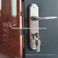 2105 serrures de porte d'entrée en acier inoxydable de haute qualité avec plaque