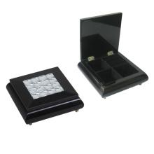 Caixa de jóias de madeira preta para decoração (628037)