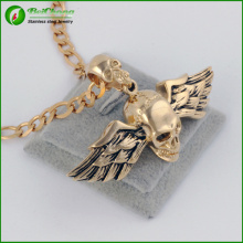 Titane personnalisée en acier bijoux oiseau Wings Skull pendentif pour hommes
