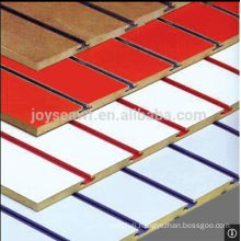 slotted mdf wall board decorative wall board with aluminum bar