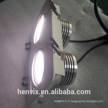 220v / 110v 80ra rectangulaire 8 pouces led downlight