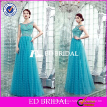 XZA003 OEM Wholesale Factory Crystal Beaded Sexy Open Back Long 2015 Evening Dress