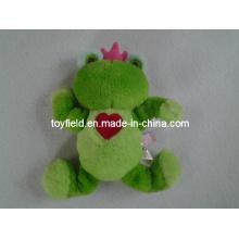 Dog Toy Valentine Heart Elastic Frog Dog Toy