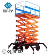 Plataformas de trabajo de tijera hidráulica móvil