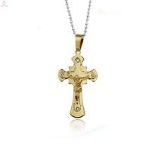 Gold jewelry main material 24k gold jesus cross pendant jewelry