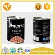 Frango Premium e sabor de frango lanches enlatados para animais de estimação
