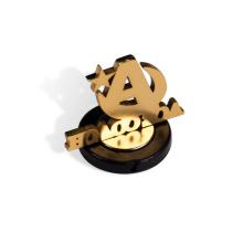 Manufacturer customized cheap metal name logo soft and hard enamel pop-up button pin uniform lapel badge