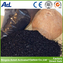 cáscara de coco de carbón activado