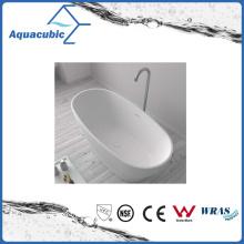 Bathroom Oval Solid Surface Freestanding Bathtub (AB6553)