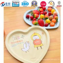 Сердце образный металлический поднос упаковки для хранения фруктов
