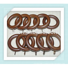Adeline Smooth Walnut Wood Curtain Rings
