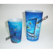 2015 Round Blue 3D Cups sin tapa