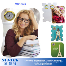 Sublimation Blank MDF Clock a Variety of Shapes