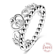 Wholesale Queen Crown 925 Sterling Silver Ring (SRI0026-B)