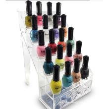 Stylish Design 5 Tiers Shelves Rack Clear Nail Polish Display Acrylic
