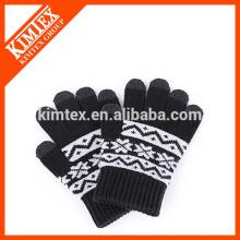 Women's touch screen wool gloves