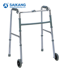 SKE201 Hospital Cheap 2 Wheels Aluminum Alloy Folding Rollator Walker