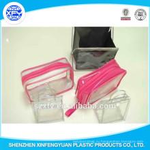 Застежка-молния с теплоизоляцией ПВХ Индивидуальный логотип Пластиковый пакет для косметики