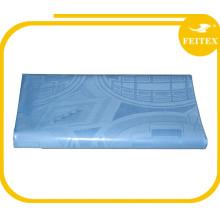 Tissu de gros damassé de nappe, nappe de broderie 100% coton textiles