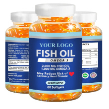 Canadian deep-sea Fish Oil with Omega 3 Softgels for middle-aged and elderly dietary supplement private label