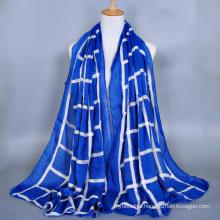 High Quality ladies fashion geometry voile embroidery scarf dubai muslim hijab scarf wholesale