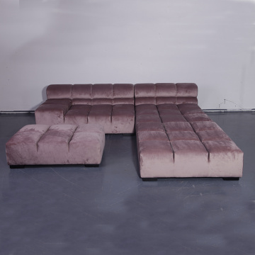 Tufty Time Modular Sofa aus rosa Stoff