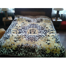 Korean Knitted Raschel Mink 100%Acrylic Blanket